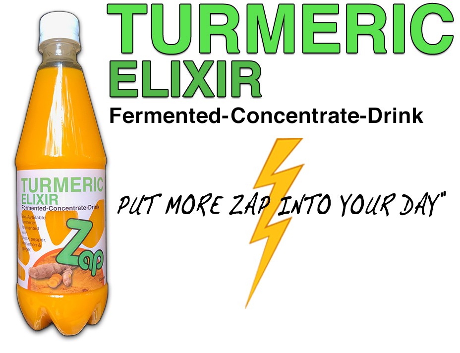 Fermented Turmeric Drink - Zap Elixir - Health2all