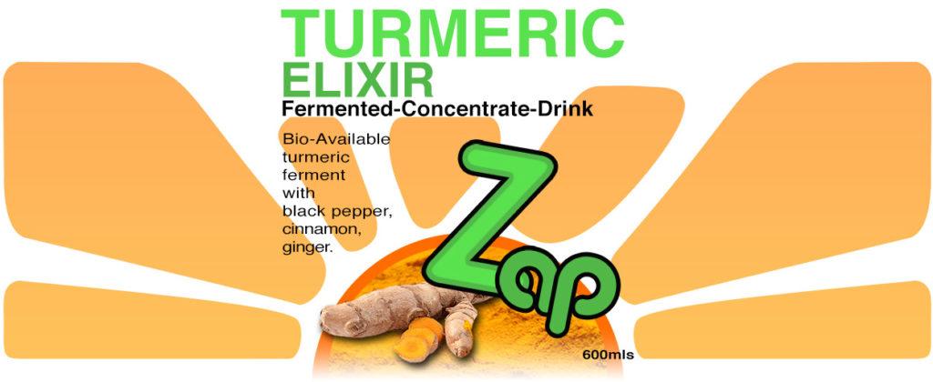 4 X ZAP TURMERIC ELIXIR