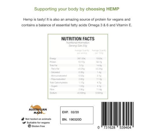 Hemp Seed Protein Powder - Natural Flavour
