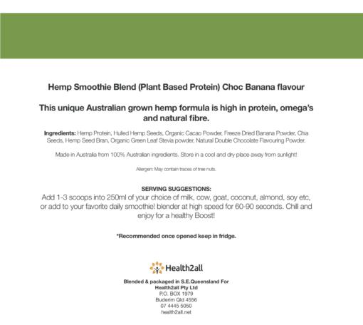 Hemp Seed Protein Powder - Choc Banana
