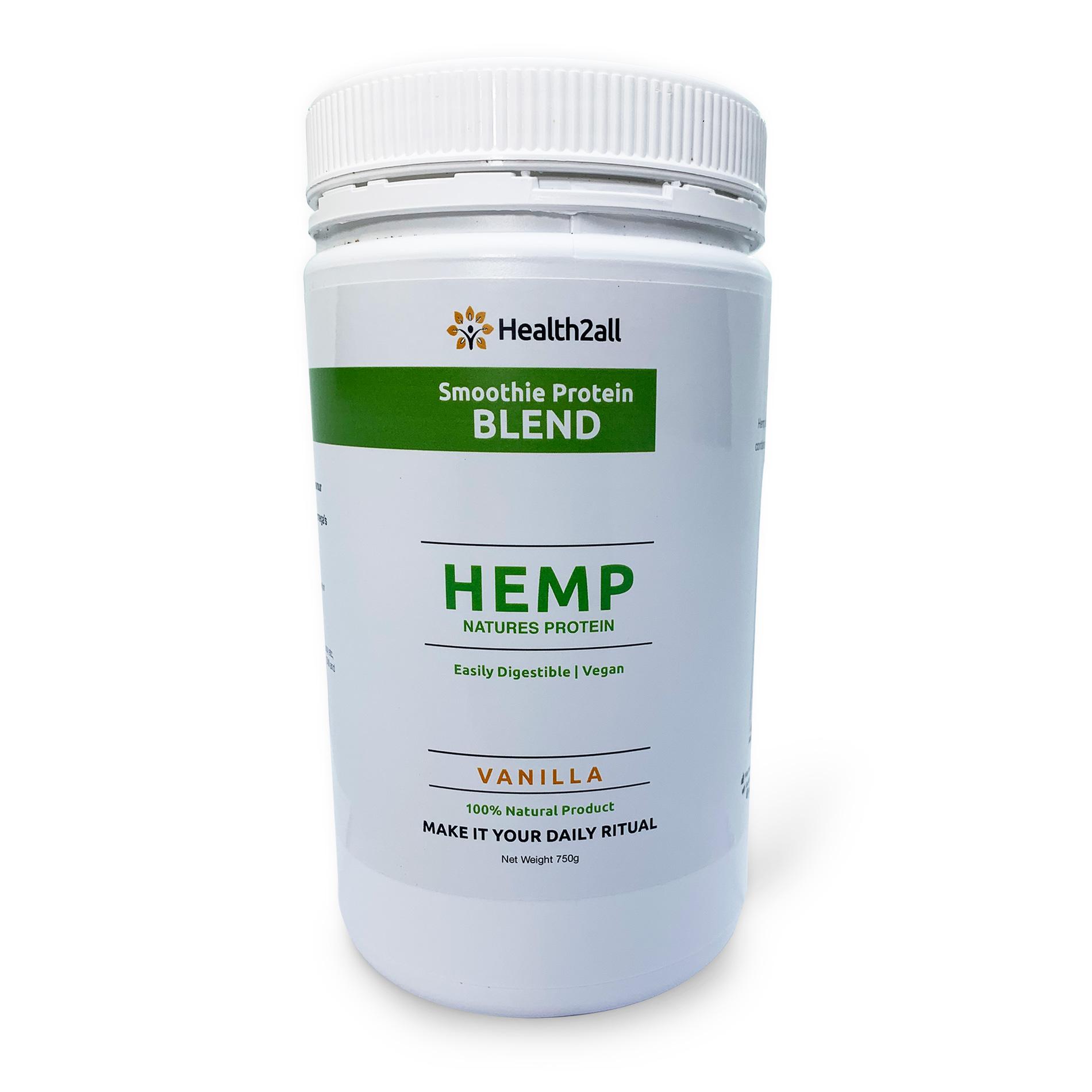 Hemp Seed Protein Powder Vanilla Health2all